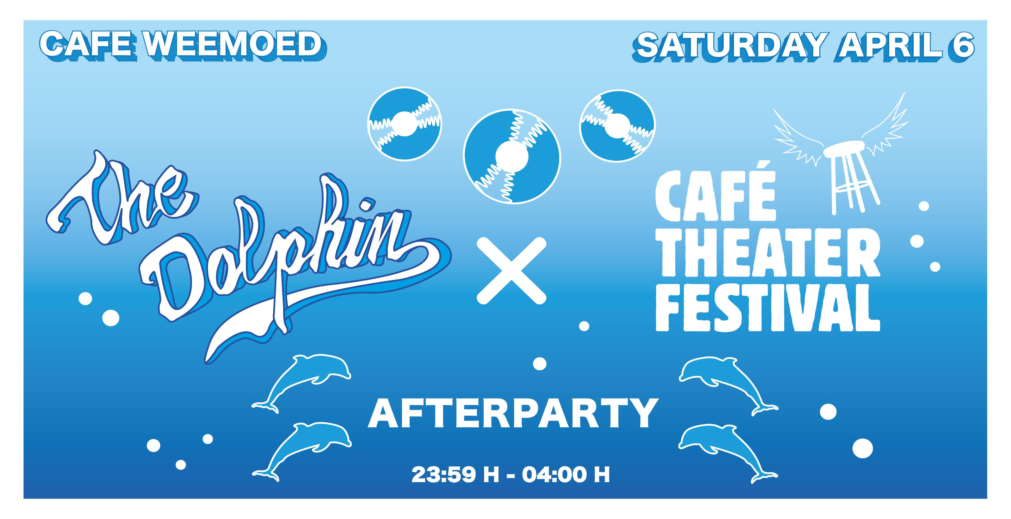 Zaterdag 6-4: Afterparty The Dolphin X Café Theater Festival Tilburg